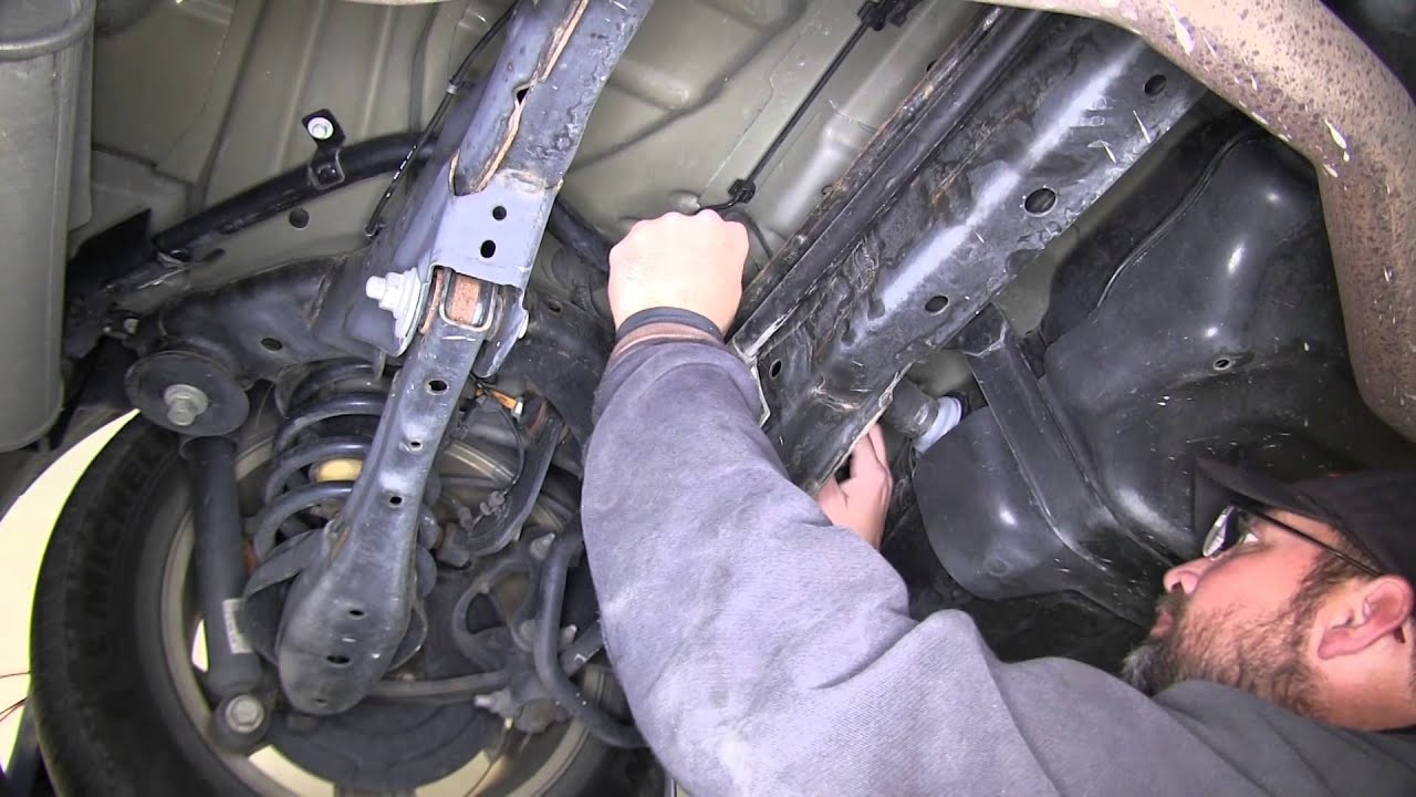 Installation of a trailer wiring harness on ford
