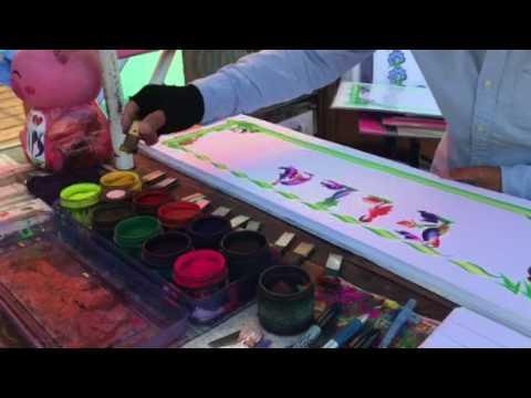 Santa Monica Pier, Chinese Professional Painting Artist