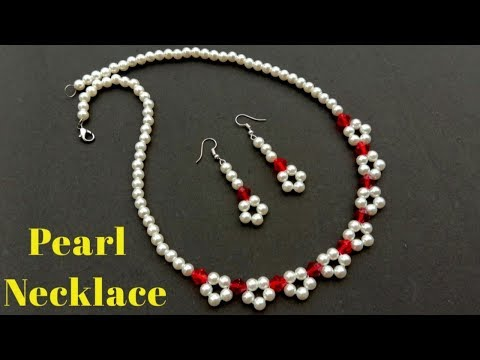 How To Make//Pearl Necklace//Necklace Making//At Home// Useful & Easy