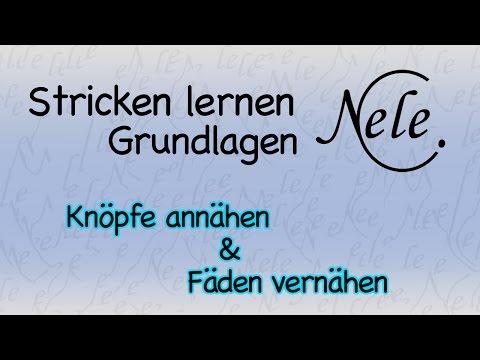 Stricken lernen, Knöpfe annähen, Fäden vernähen, DIY Anleitung by NeleC.