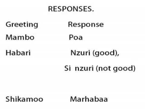 Swahili greetings youtube swahili greetings m4hsunfo Choice Image