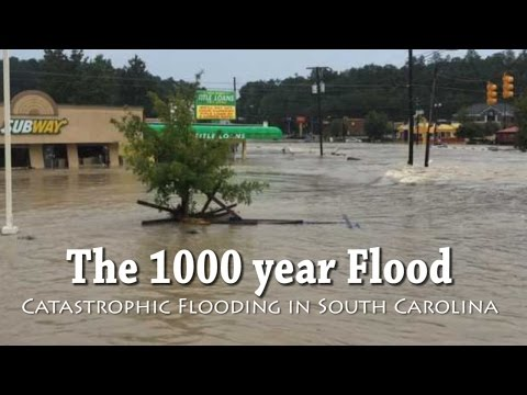 1000 year Flood - South Carolina continues to be hit with catastrophic flooding