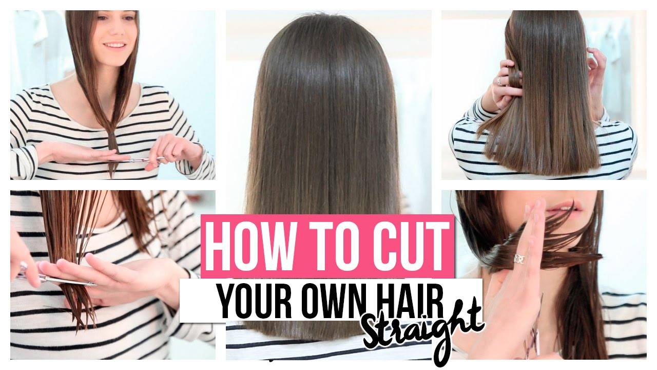 easy ways to style long straight hair how to cut your own hair 9270 | maxresdefault