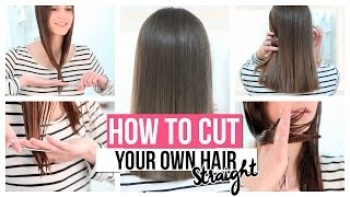 HOW TO CUT YΟUR OWN HAIR STRAIGHT