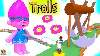 Poppy Obby Giant Dreamworks Trolls  + Rainbow Shapes  - Let's Play Roblox Video Game