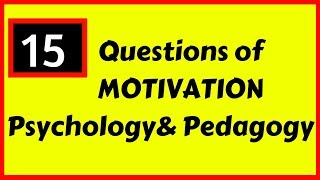 Important Questions on Motivation || For DSSSB-PRT/TGT/PGT