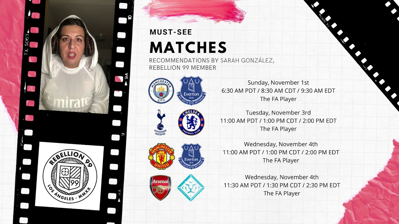 Must-See Matches I November 1-4, 2020
