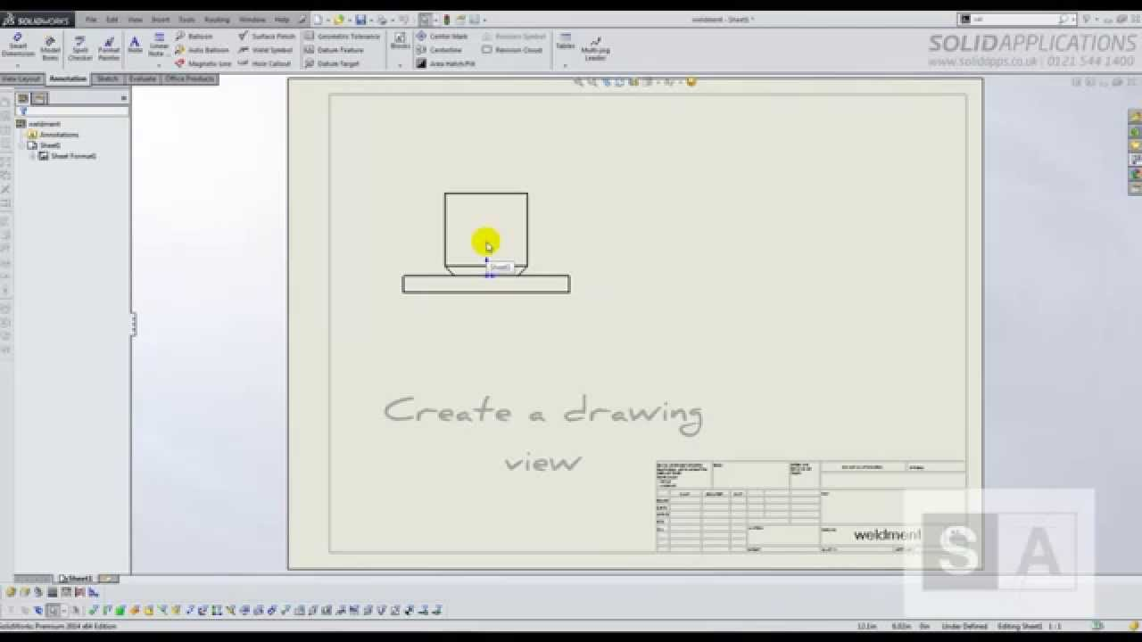 Tech Tip Weld Symbols In Solidworks Youtube