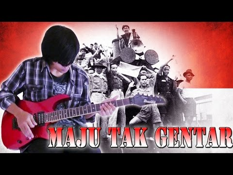 Lagu Maju Tak Gentar Gitar Cover Versi Rock And Roll By Mr. Jom