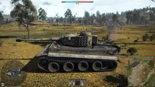 War Thunder - Tiger H1 Heavy Tank Realistic Battle Gameplay