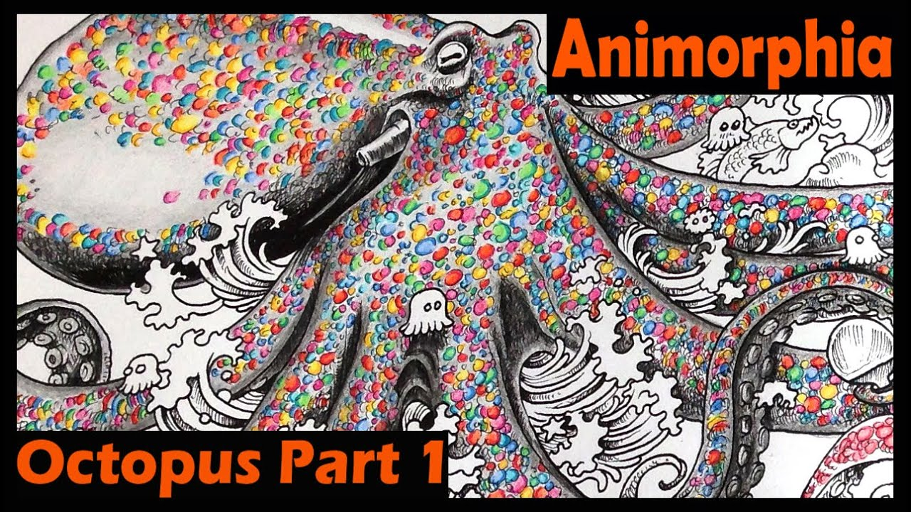 Animorphia Coloring Book Tutorial | Octopus | Part 1 - YouTube