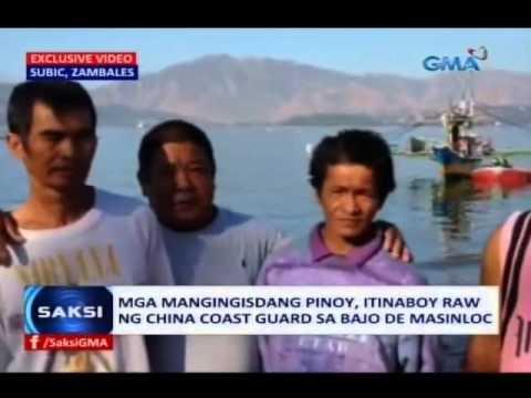 Saksi: Mga mangingisdang Pinoy, itinaboy raw ng China Coast Guard sa Bajo de Masinloc