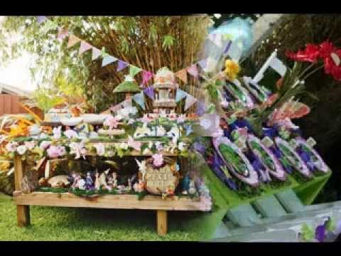 DIY Tinkerbell party decorations ideas - YouTube