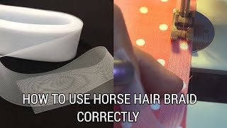 Gambar cover HOW TO HEM CORRECTLY WITH CRINOLINE | HORSEHAIR BRAID SEWING | HOW TO SEW CRINOLINE ON PEPLUM