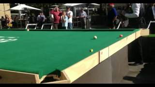 Snooker Table - Neil Robertson Vs Me on WORLDS BIGGEST SNOOKER TABLE