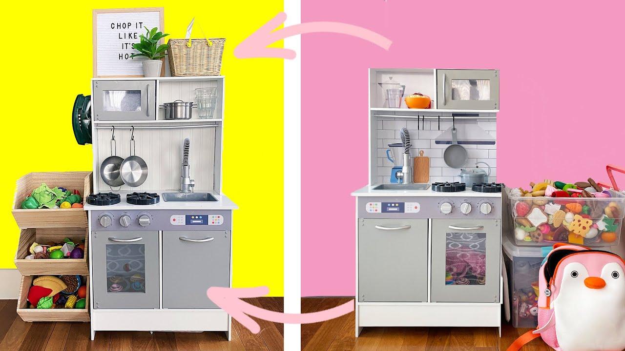Easy Farmhouse Modern Toy Kitchen Makeover