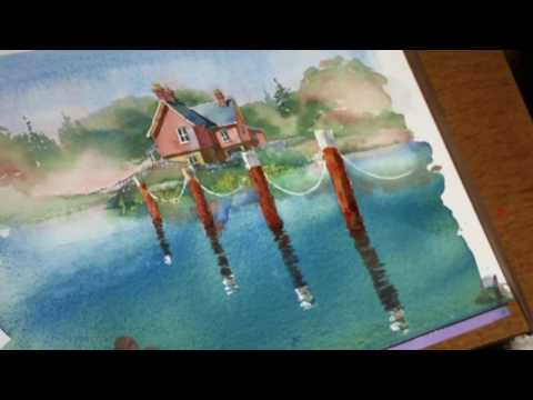 Learn watercolor painting – watch this preview of a full watercolor demo