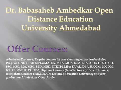 Dr  Babasaheb Ambedkar Open University Distance Education Ahmedabad