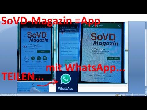 W_0339 =SoVD-Magazin =App =Empfehlung =TEILEN  mit WhatsApp