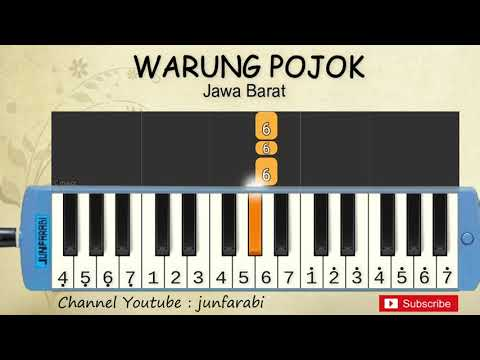 Not Pianika Warung Pojok - Lagu Daerah Tradisional Indonesia - Tutorial Pianika Not Angka