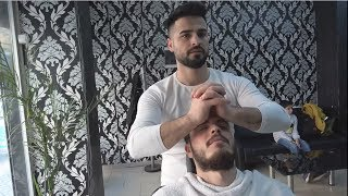 ASMR Turkish Barber Face,Head and Body Massage 225