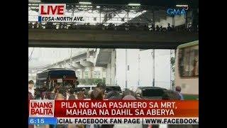 UB: Pila ng mga pasahero sa MRT, mahaba na dahil sa aberya