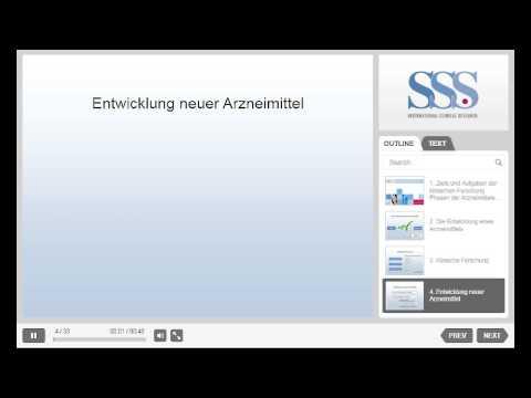 GCP Online Kurs der Firma SSS International Clinical Research GmbH
