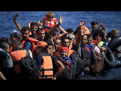 قاچاق مهاجران از ترکیه به جزیره لزوس در دریای اژه