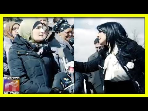 MUST SEE! Linda Sarsour SHUT DOWN By IRATE Woman At Rally for Anti-Semite Ilhan Omar