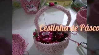Faça você mesmo – cesta de páscoa de crochê