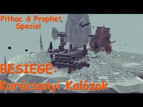 BESIEGE Multiplayer - Kalózkarácsony (ft. Pithac & Prophet)