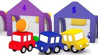 Мультик для малышей. 4 МАШИНКИ играют в футбол. Развивающие 3D мультфильмы.