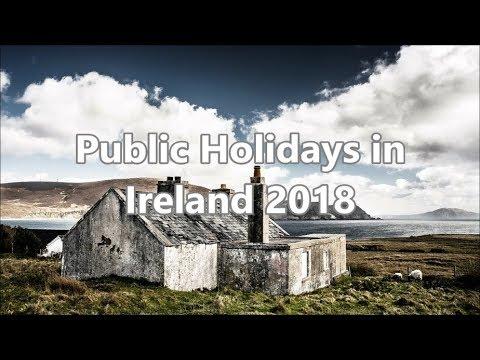 Public Holidays in Ireland 2018
