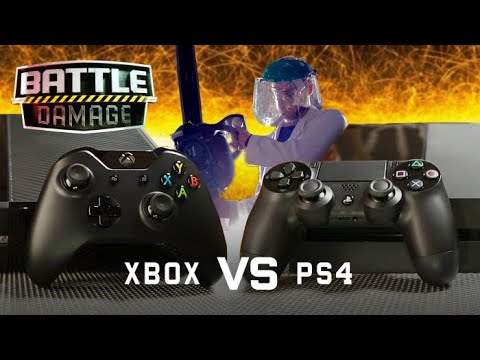 XBOX ONE vs PS4 Durability Test (Loser Gets Chainsaw) with VSauce!   WIRED's Battle Damage