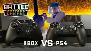 XBOX ONE vs PS4 Durability Test (Loser Gets Chainsaw) | WIRED's Battle Damage