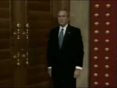 sc 1 st  YouTube & Bush hits the wrong door at Press Conference LMAO - YouTube