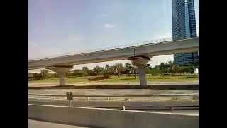 Dubai skyline flyover and Femous Building.