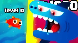 HOW STRONG IS THE STRONGEST SHARK FISH EVOLUTION? (1000+ LEVEL ARMY LEGENDARY)l Fish & Trip New Game