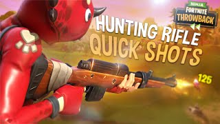 HUNTING RIFLE QUICKSCOPES! - FORTNITE THROWBACK