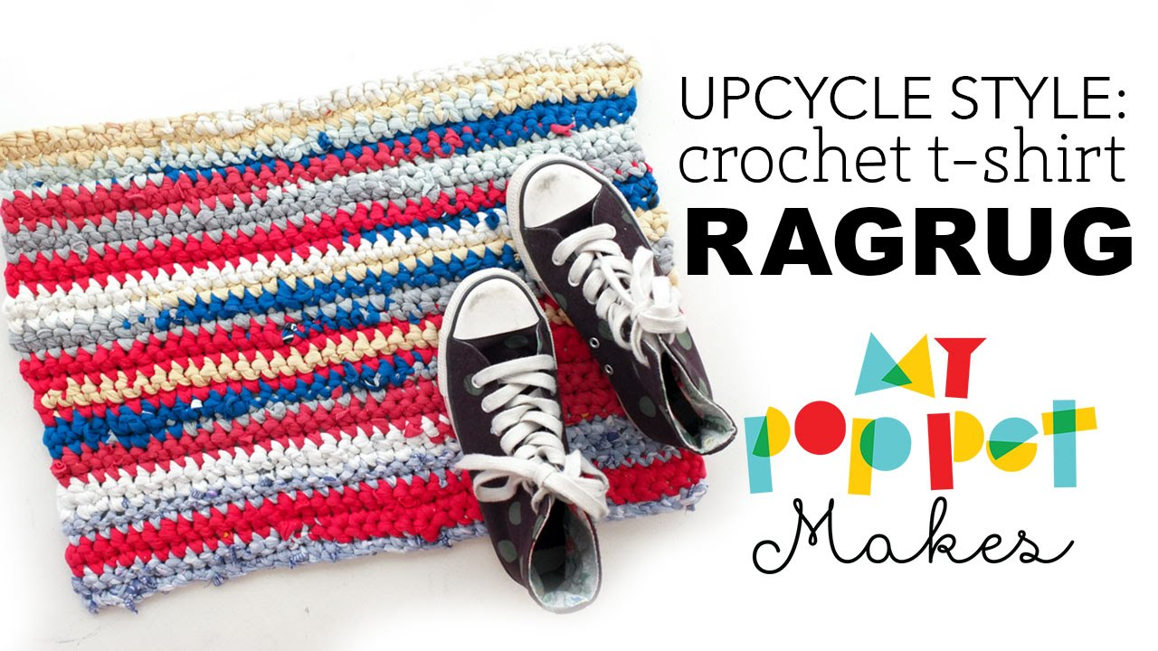 How to Crochet a Rag Rug from Old T