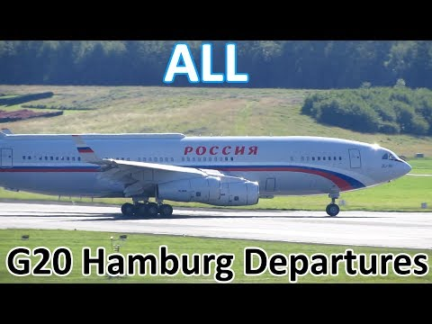 G20 Hamburg | ALL Government/Presidential Aircraft Departures - Planespotting at Hamburg (2017)
