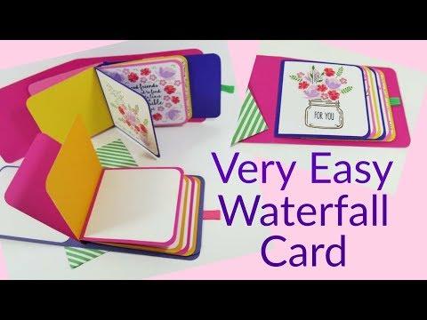 Easy Waterfall Card | Video Tutorial