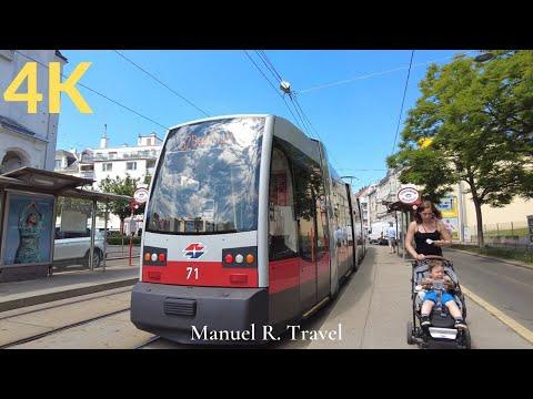 Tram Ride in Vienna from Westbahnhof to Gruschaplatz, Public Transport ASMR