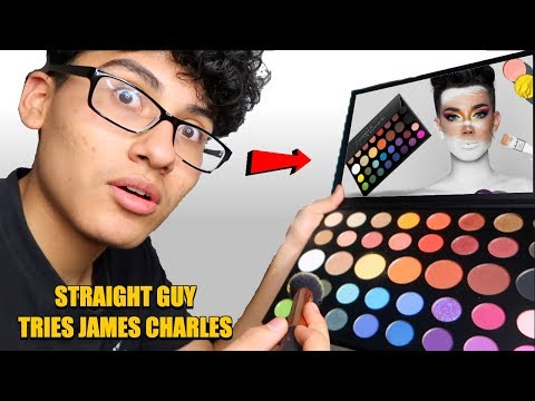 STRAIGHT GUY TRIES MAKEUP FOR THE FIRST TIME USING JAMES CHARLES PALLET thumbnail