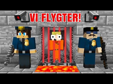 Dansk Minecraft - VI FLYGTER FRA FÆNGSEL!!