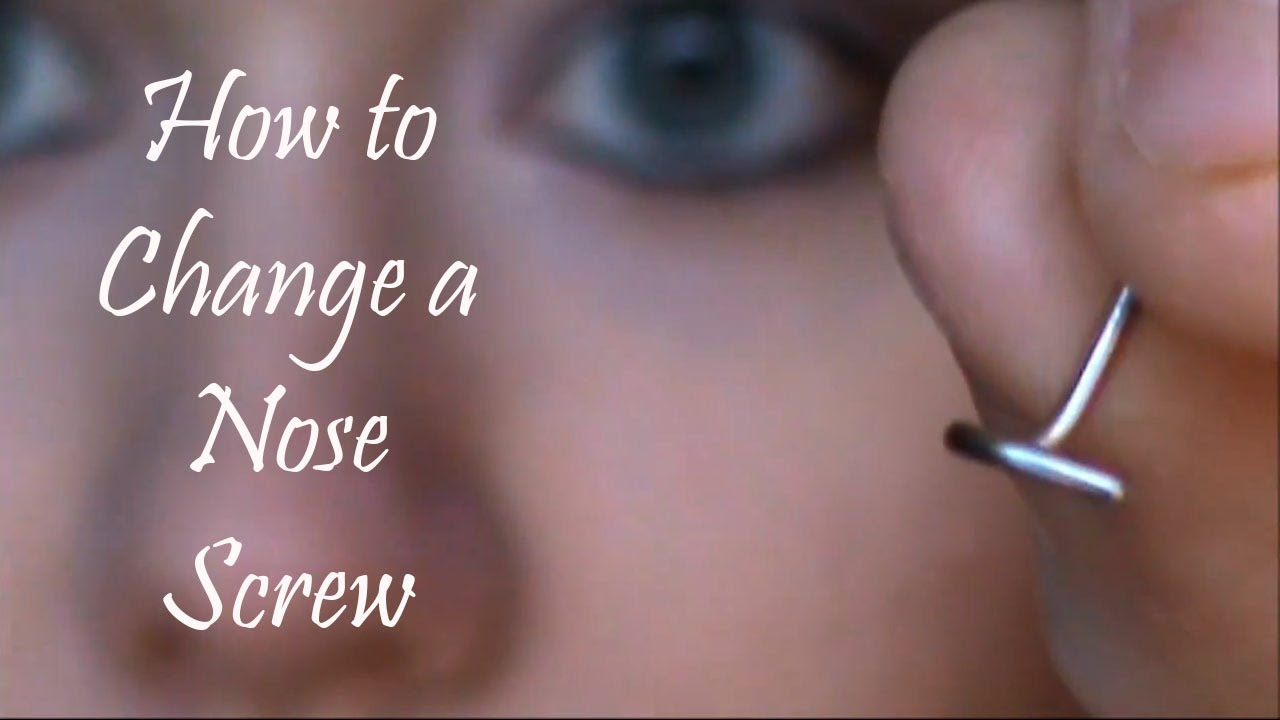 How To Change A Nose Screw Youtube