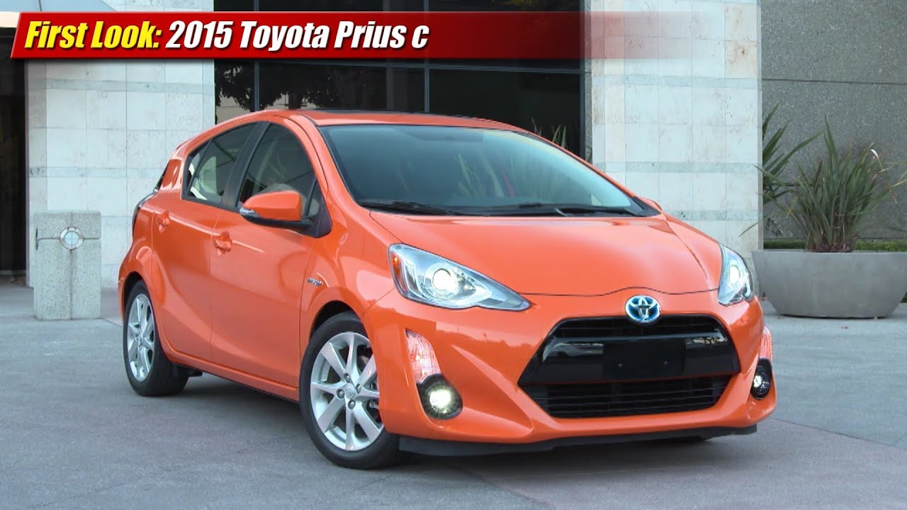 First Look 2015 Toyota Prius C Youtube