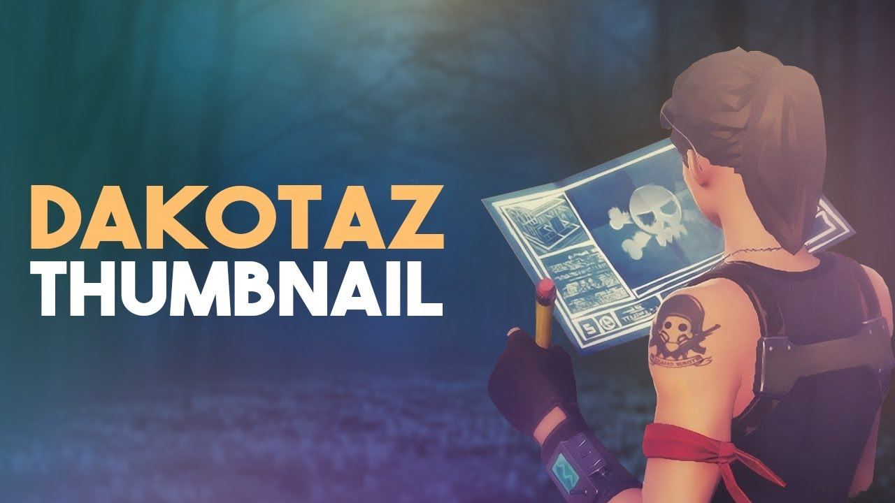 How To Make Thumbnails Like Dakotaz Aidz How To Make Fortnite