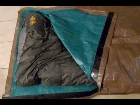 & DIY Tarp Sleeping Bag Bivy - YouTube