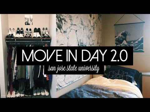 MOVE-IN DAY 2.0 + NEW DORM ROOM TOUR | San Jose State University
